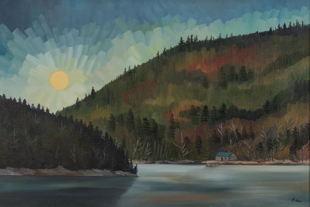 Clair de lune sur le lac Matane