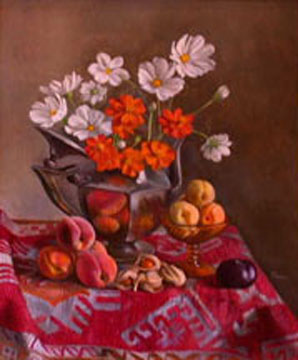 Still life with orange flowers