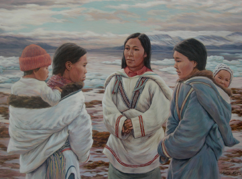Three women at Pond Inlet